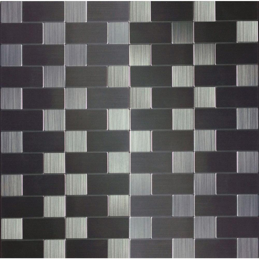 3d Wall Instant Mosaic Peel N Stick Wall Tile In Brushed