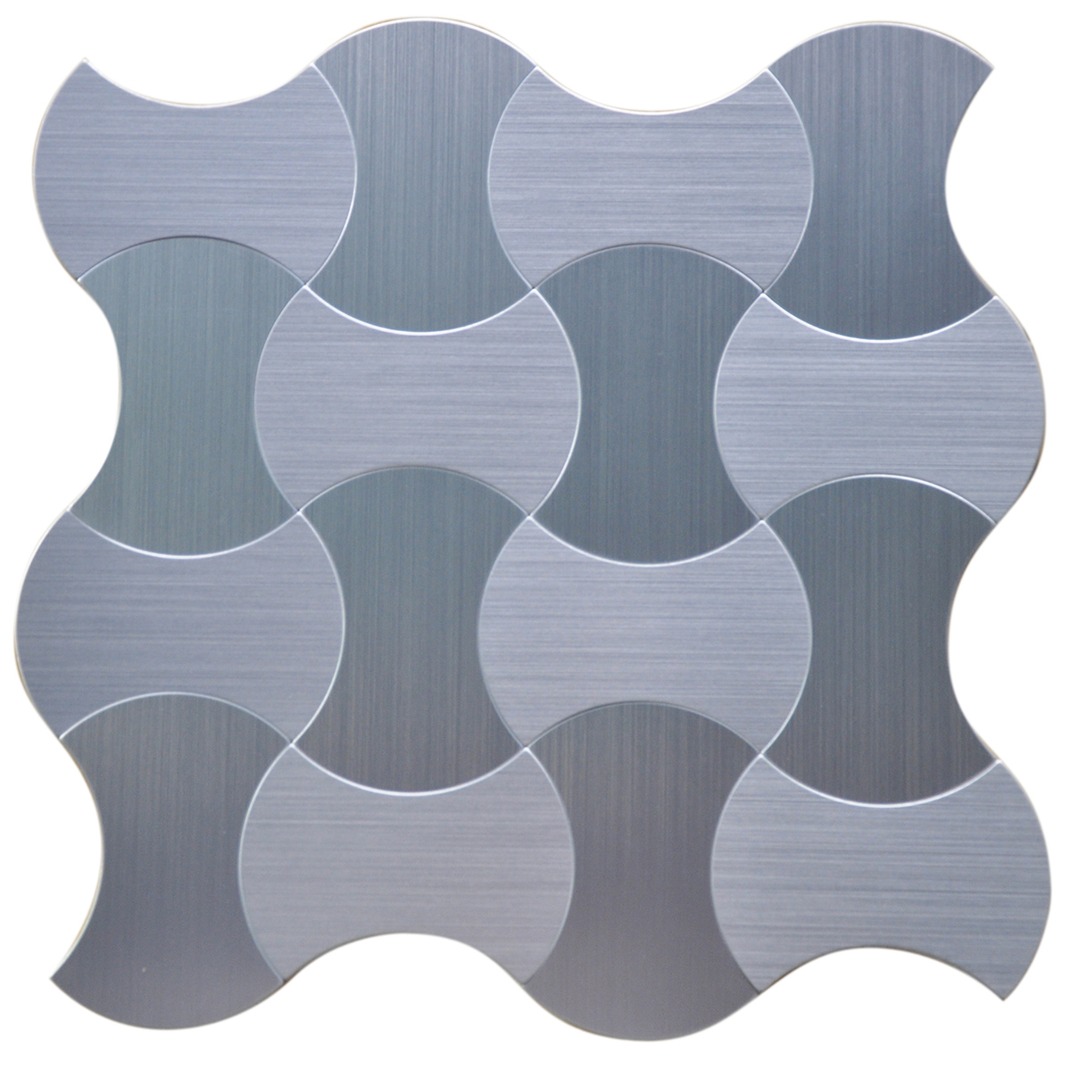 3d Wall Instant Mosaic Stainless Steel L N Stick Tile 6 12 X12 Pieces