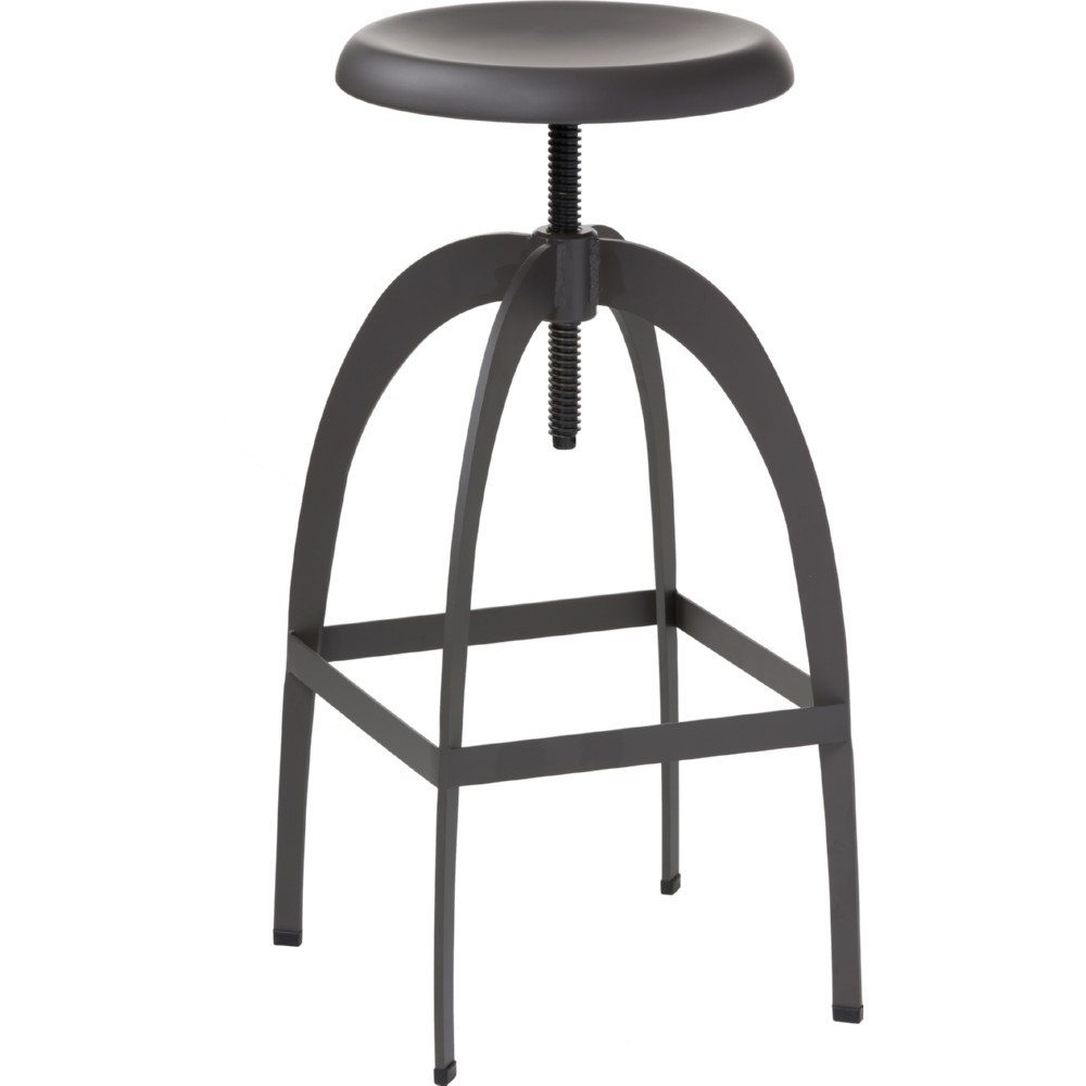 Amazing Colby Adjustable Bar Stool In Matte Gray Powder Coated Steel By Sunpan Pdpeps Interior Chair Design Pdpepsorg