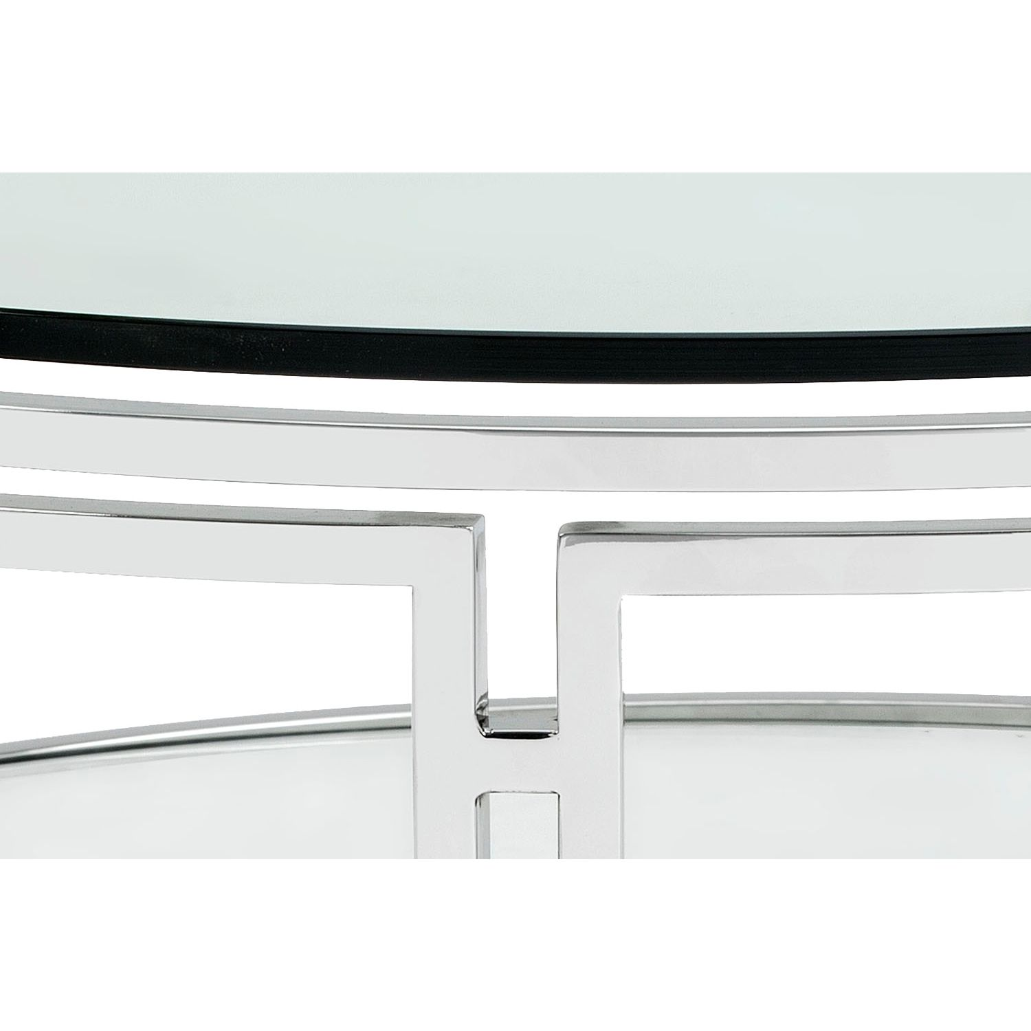 Sunpan Andros Coffee Table in Polished Stainless Steel w