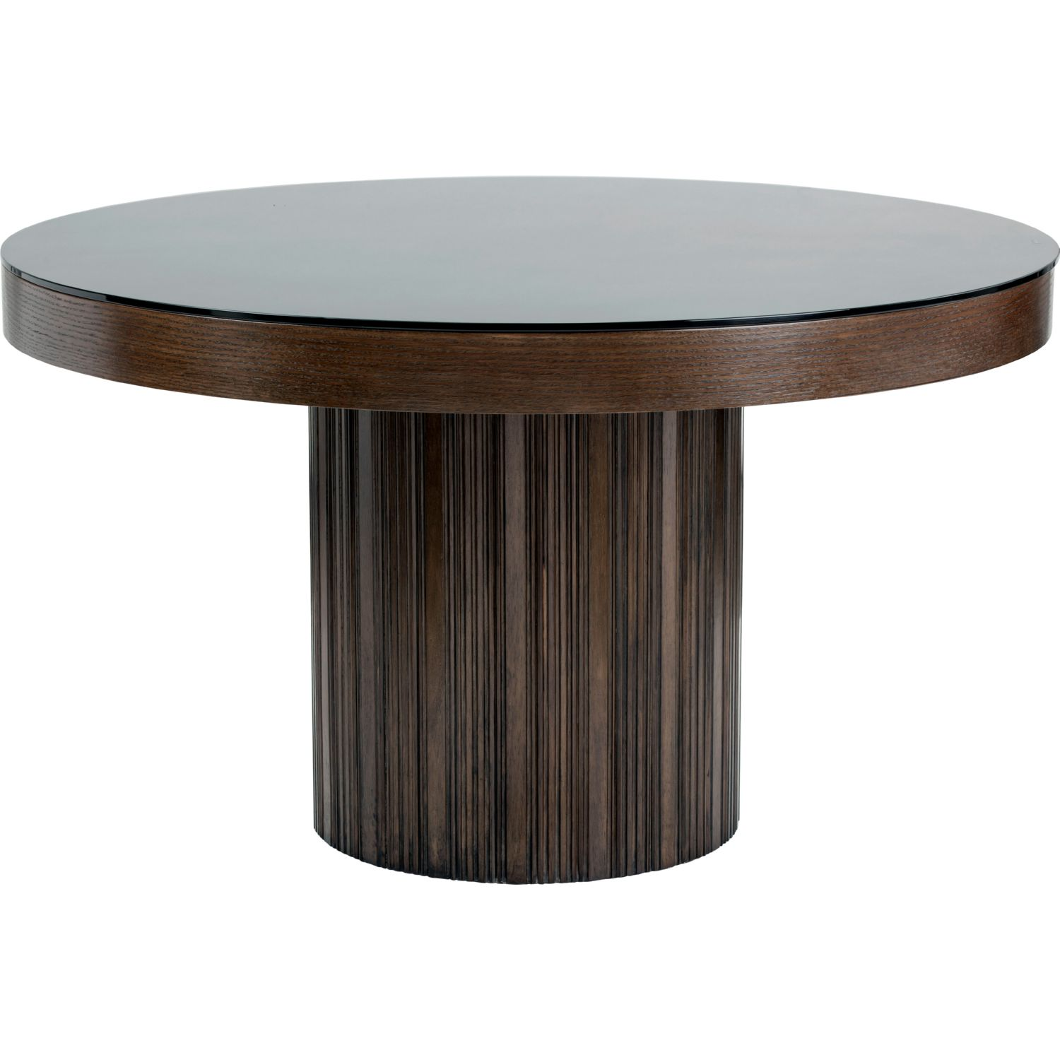 Sunpan Jakarta Round Dining Table in Etched Espresso Wood w