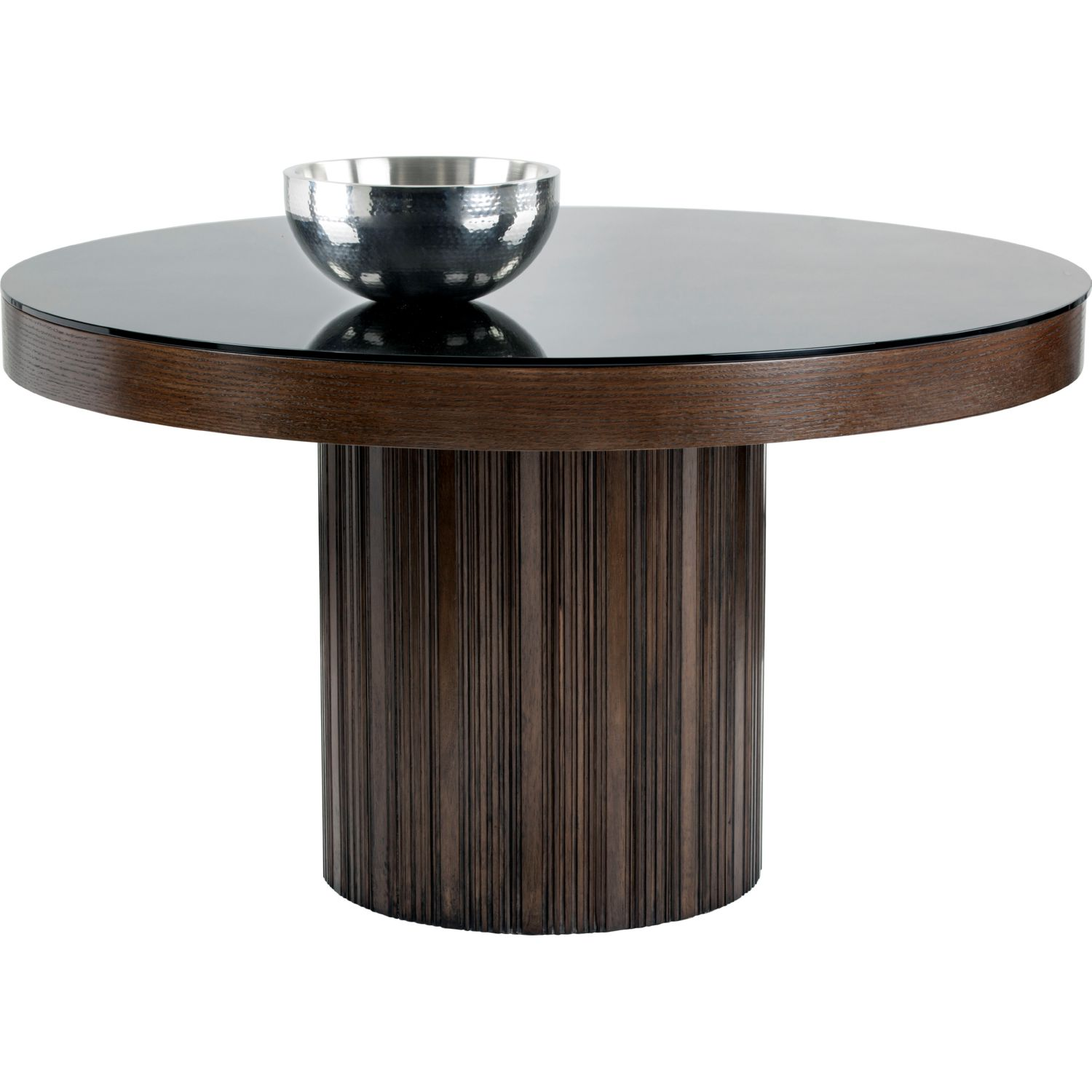 Sunpan 101073 Jakarta Round Dining Table in Etched Espresso Wood w