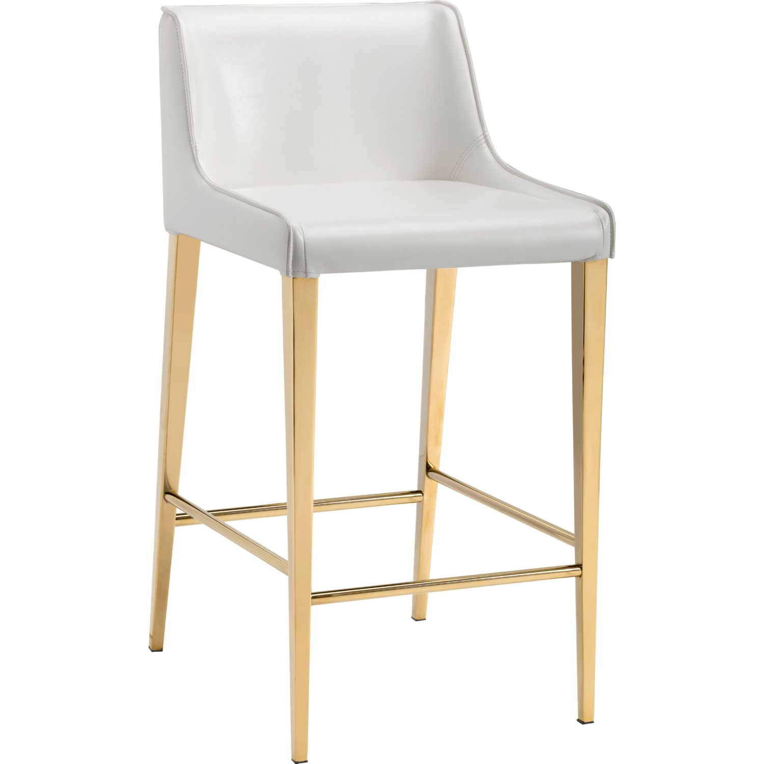Sunpan 101178 Lawrence Bar Stool In Almond Leatherette On