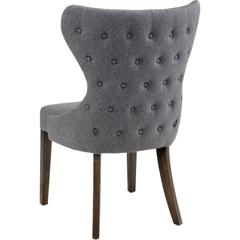 Sunpan Ariana Dining Chair in Tufted Dark Grey Fabric on