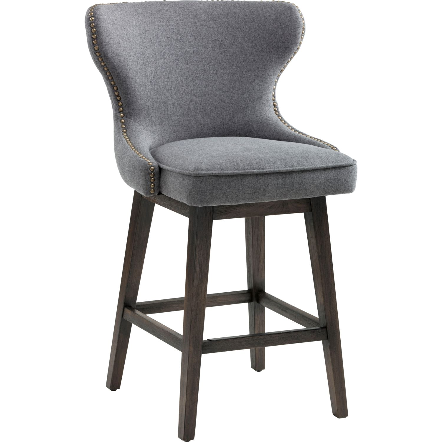 Sunpan 101153 Ariana Swivel Counter Height Stool In Tufted