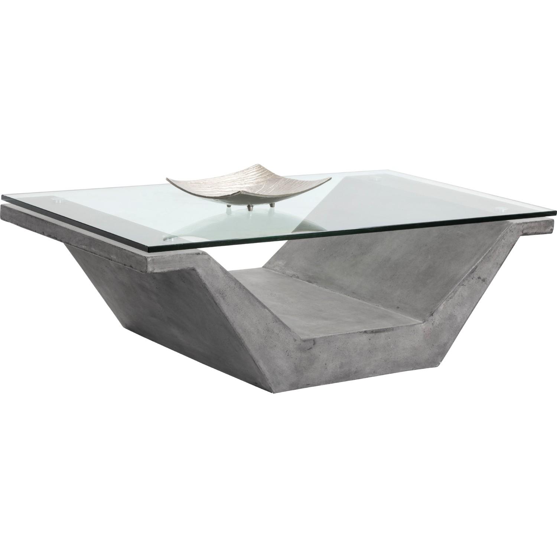 Astonishing Jasper Coffee Table W Glass Top On V Shape Concrete Base By Sunpan Beatyapartments Chair Design Images Beatyapartmentscom
