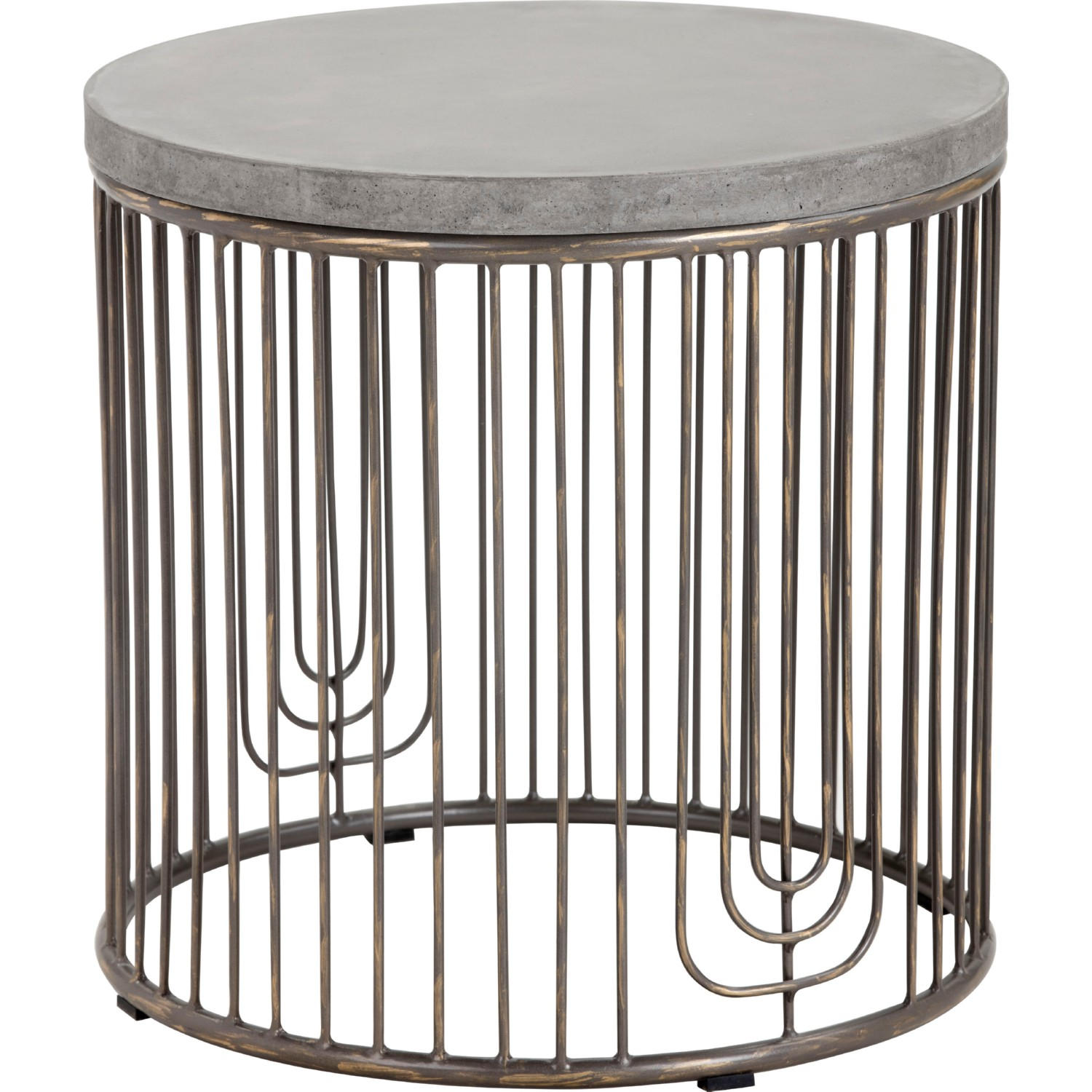 Sunpan 101373 sargon side table w concrete top on antique silver hover to zoom geotapseo Gallery