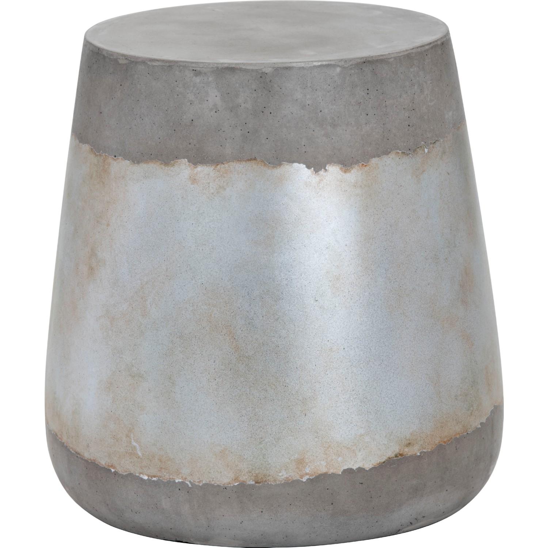 Sunpan 101376 aries side table in industrial grey concrete silver sunpan aries side table in industrial grey concrete silver geotapseo Gallery