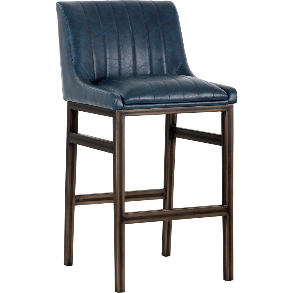 Sunpan 101744 Halden Armless Bar Stool In Vintage Blue