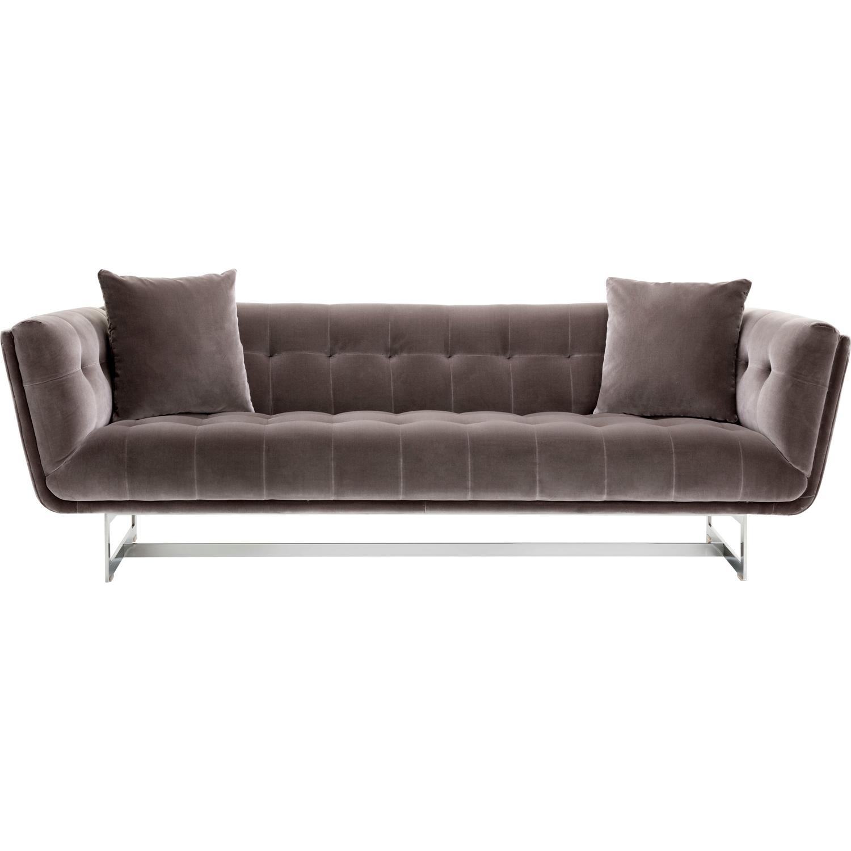 Sunpan 102058 centennial sofa in tufted shale grey fabric for Shale sofa bed