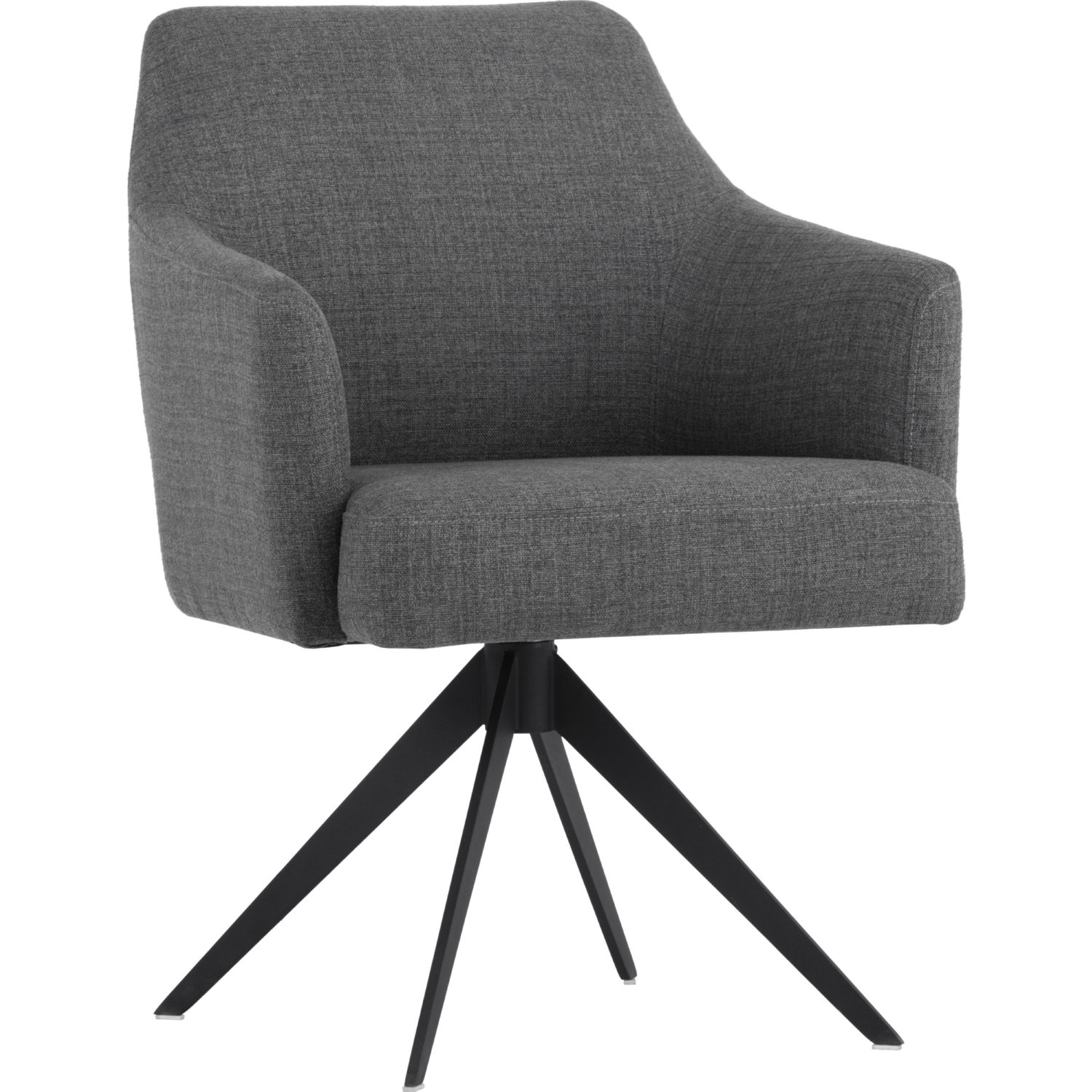 Pleasant Sydney Swivel Dining Chair In Coastal Grey Fabric On Black Steel By Sunpan Ncnpc Chair Design For Home Ncnpcorg