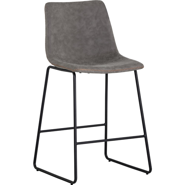 Sunpan 104039 Cal Counter Stool In Antique Grey On Black