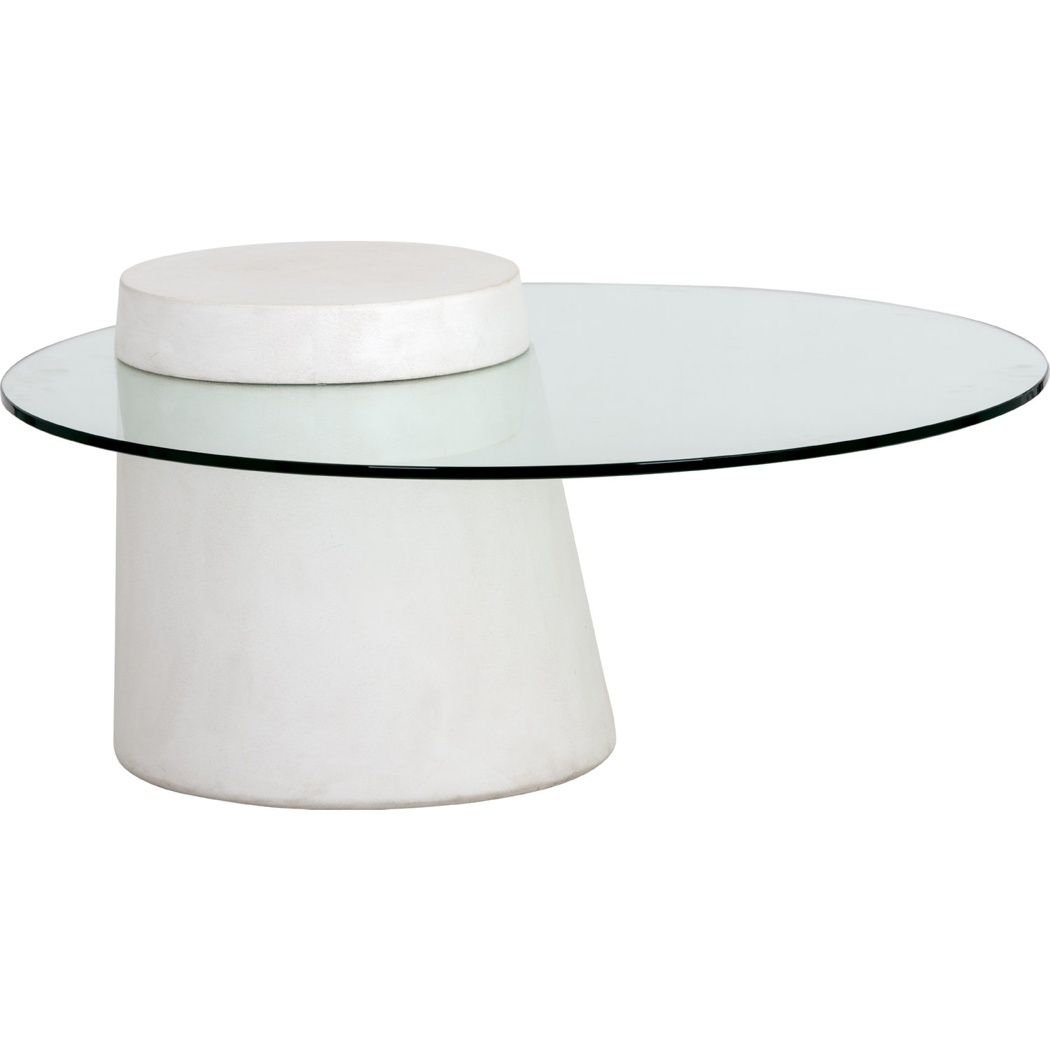 Wondrous Grange Round Coffee Table In Ivory Concrete Tempered Glass By Sunpan Caraccident5 Cool Chair Designs And Ideas Caraccident5Info