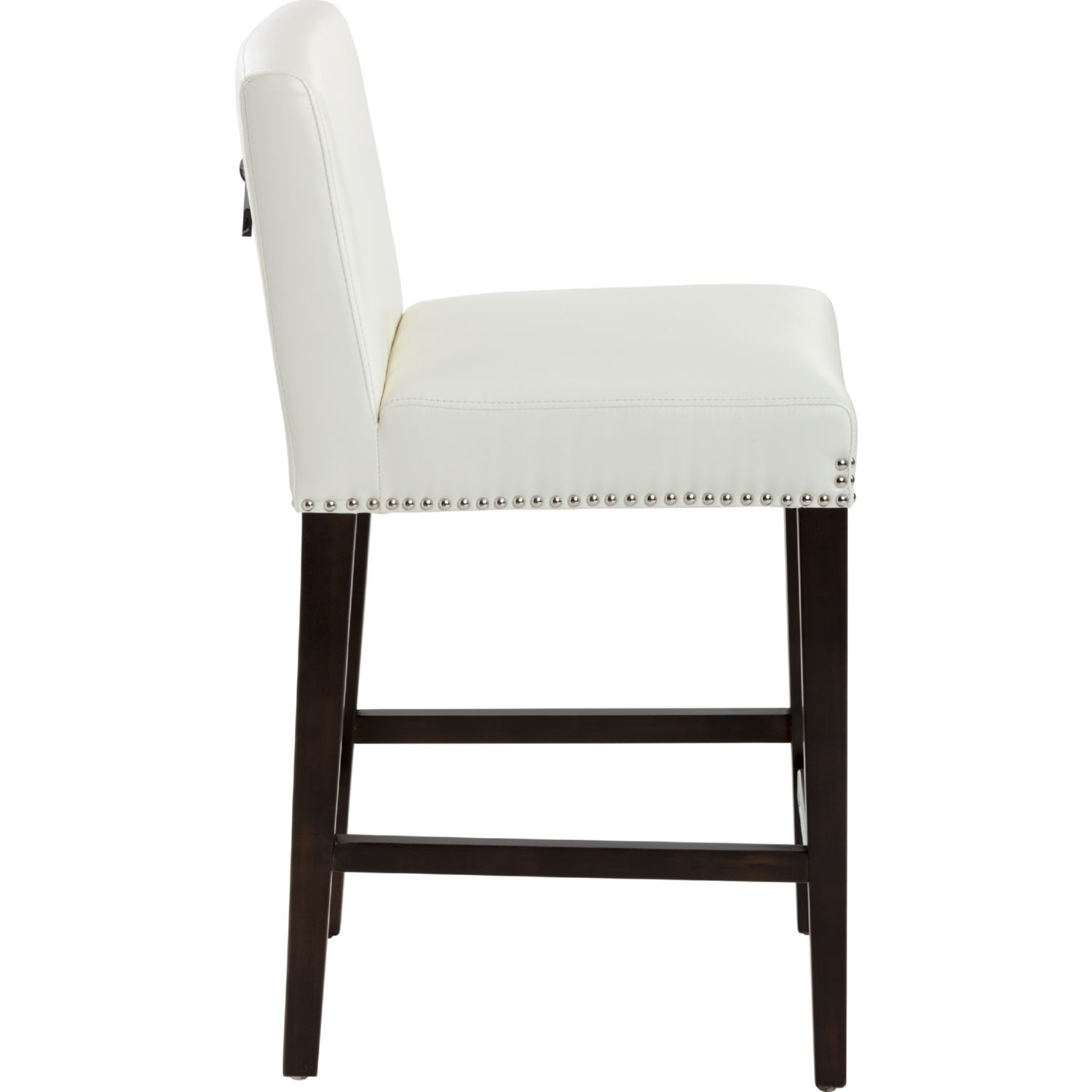 Sunpan 38406 Brooke Counter Height Stool In Ivory Leather