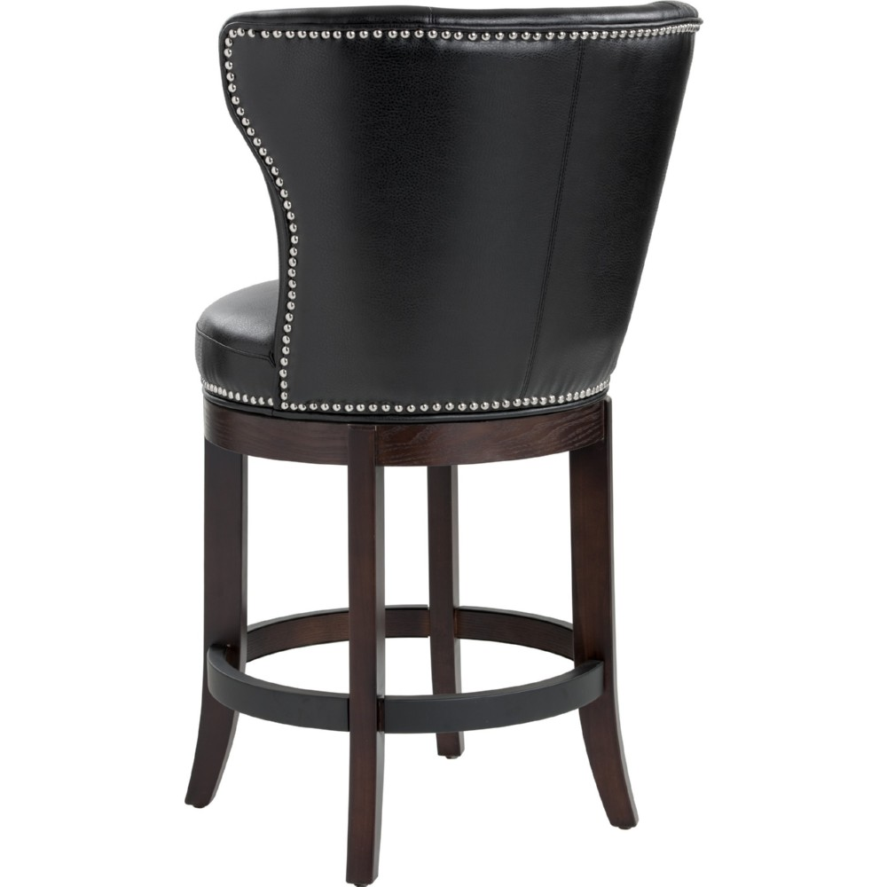 Leather Counter Stools A Designee Of Black Leather
