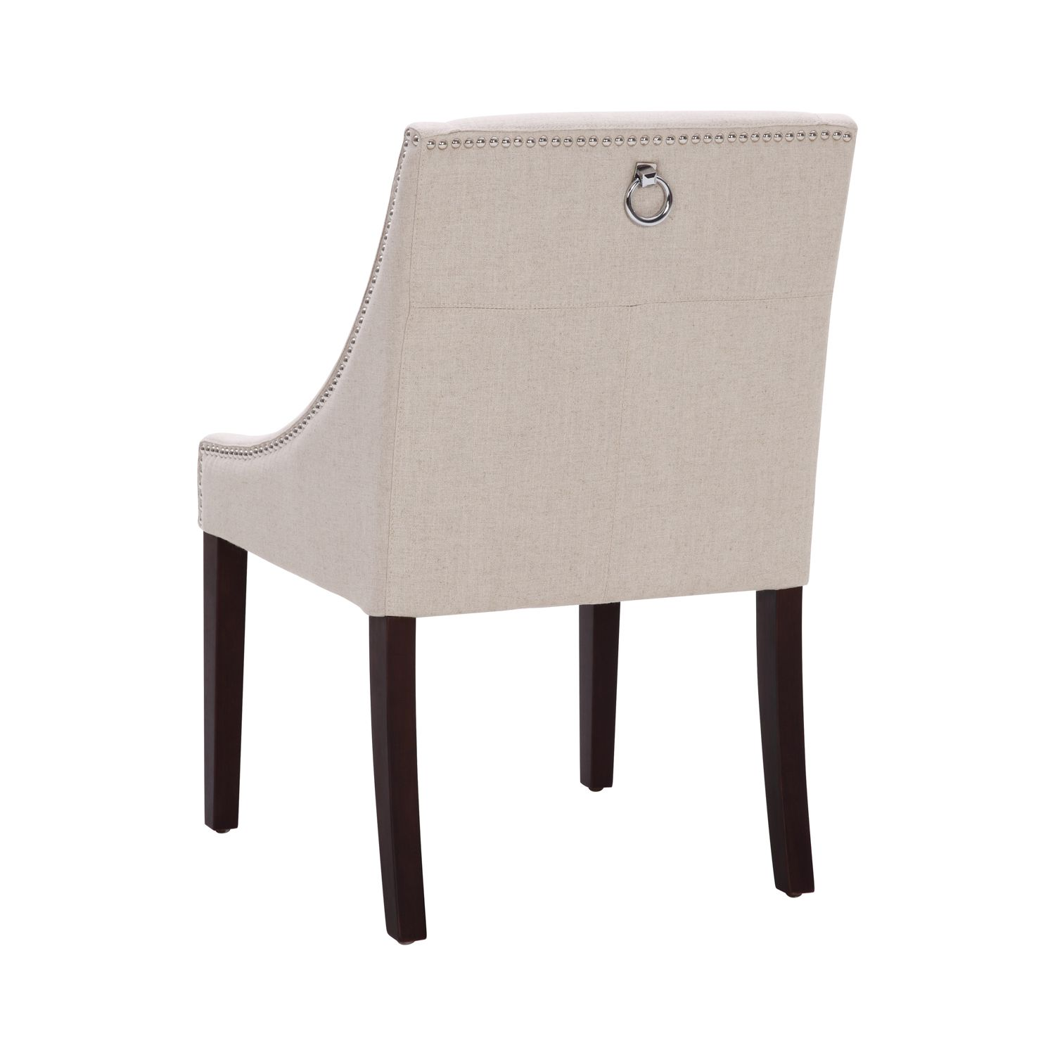 fabric dining chairs with nailheads. lucille dining chair in linen look fabric w/ silver nail heads chairs with nailheads