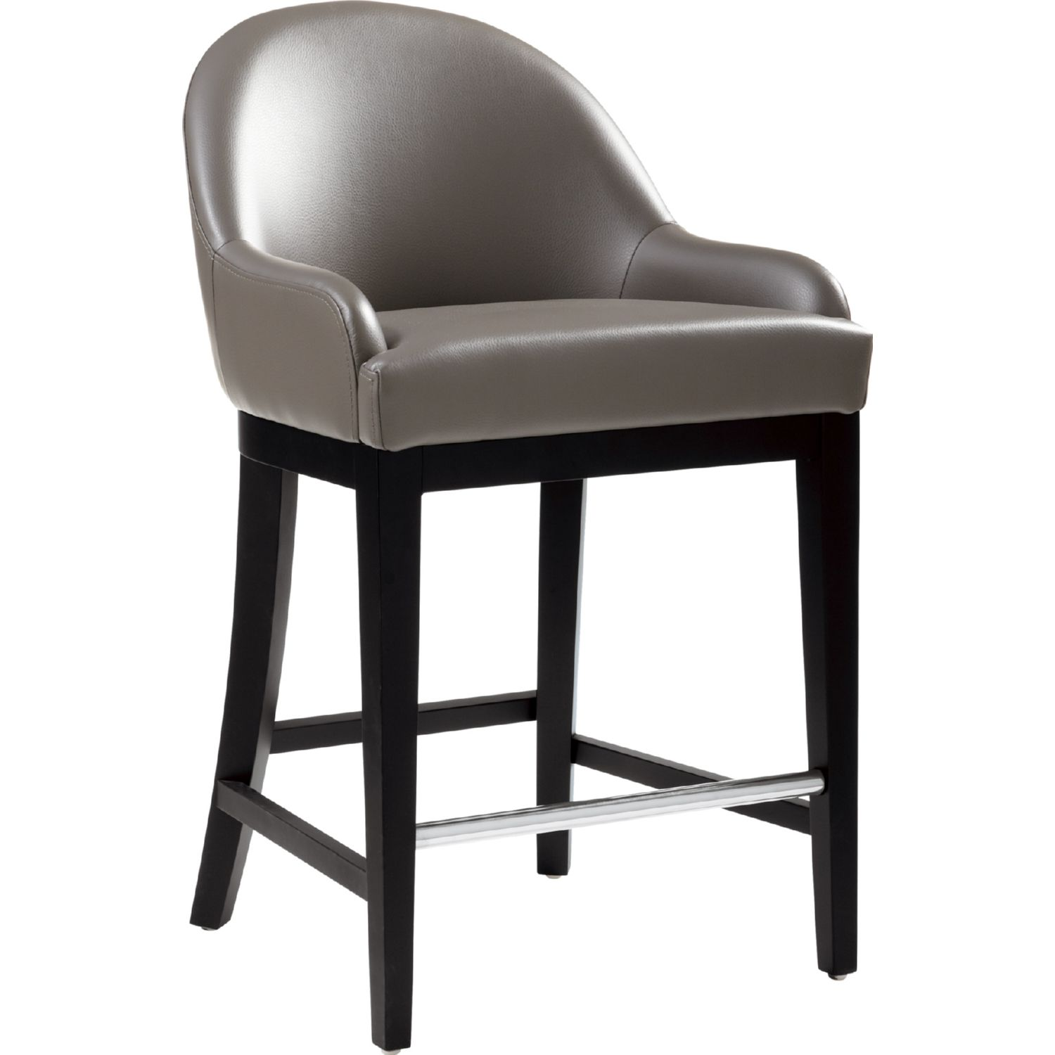 Sunpan 80438 Haven Counter Height Stool In Grey Leather