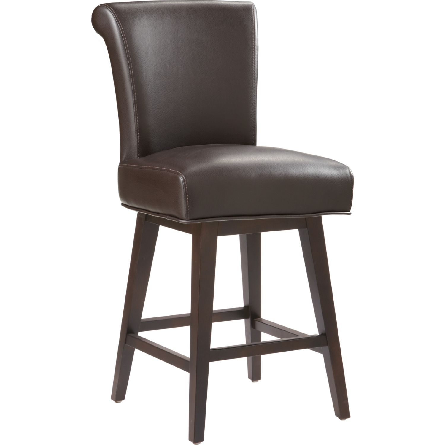 Sunpan 74921 Hamlet Swivel Counter Height Stool In Brown