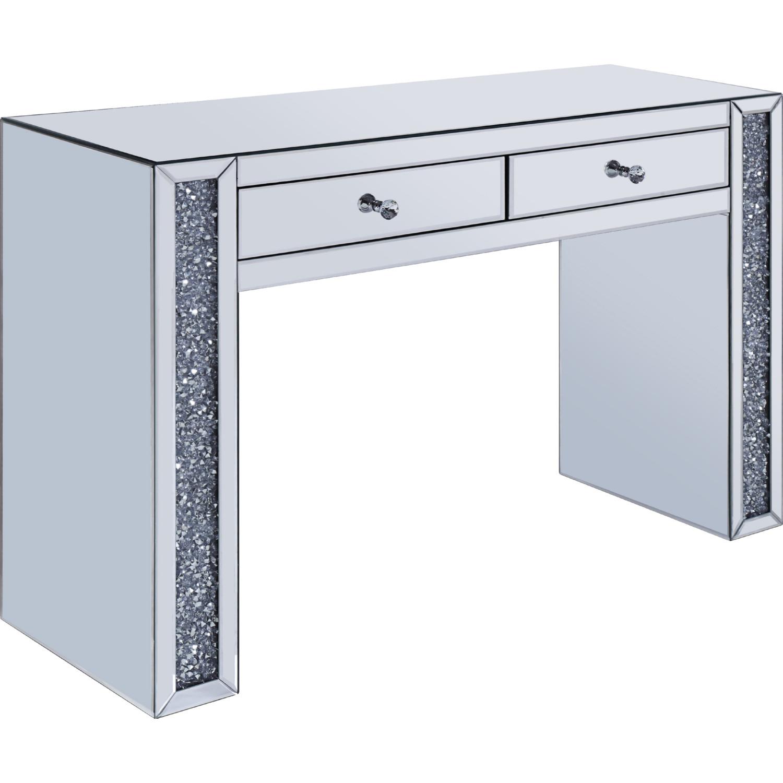 Acme 90465 Noralie Bedroom Vanity Desk In Mirror Faux Diamonds