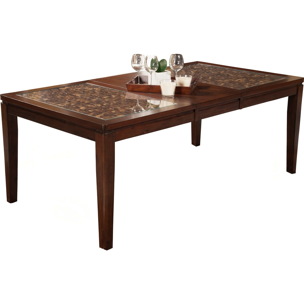 Alpine Furniture 1437 01 Granada Extension Dining Table W