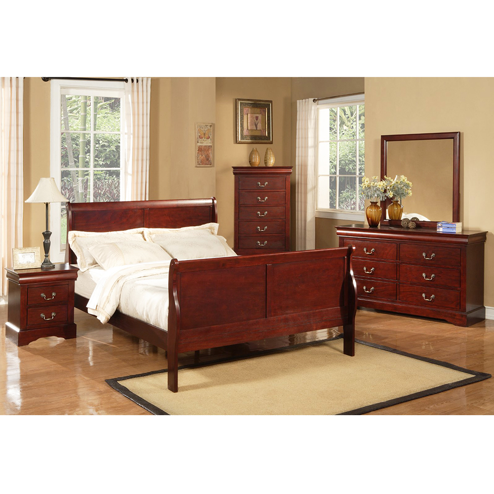 Louis Philippe Furniture Bedroom Alpine Furniture 2704 Louis Philippe Ii 5 Drawer Tall Boy Chest In
