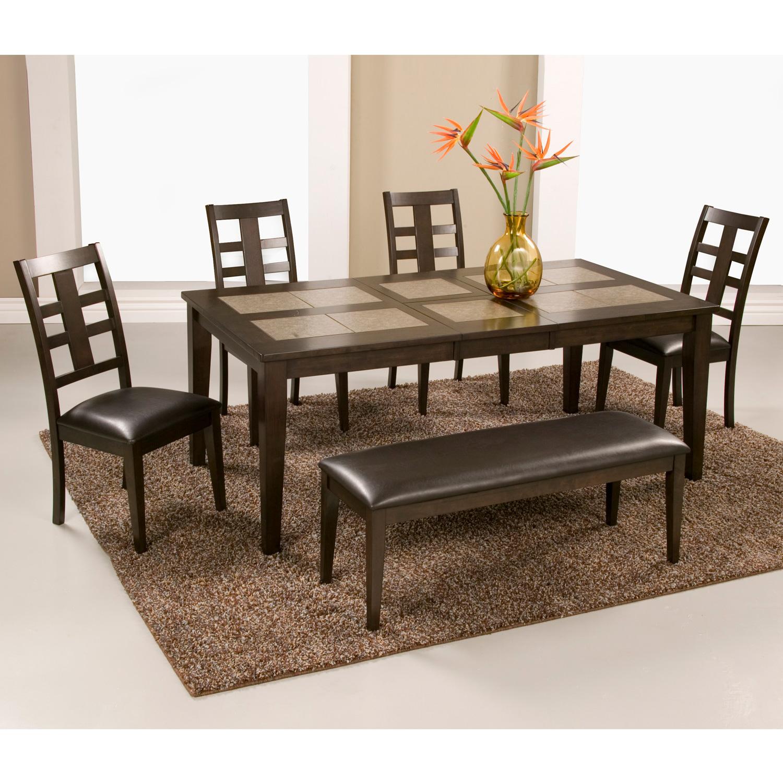 Alpine Furniture 566-01 Piedmont Tile Top Dining Table in Dark ...