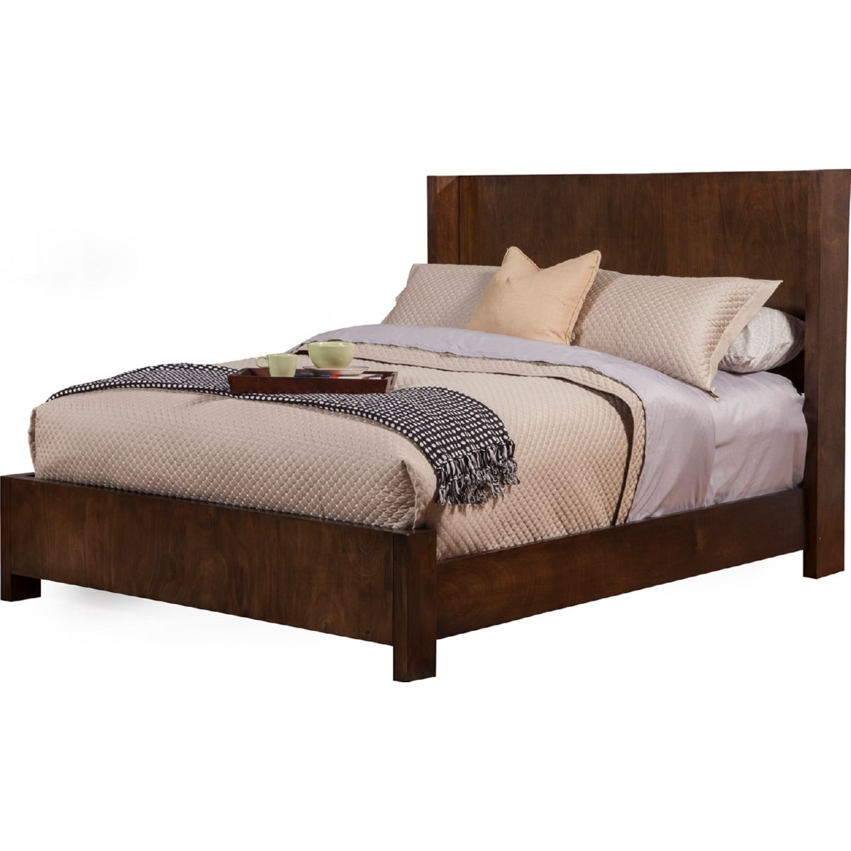Austin Full Size Shelter Panel Bed In Chestnut Finish Mahogany U0026 Okoume  Veneer