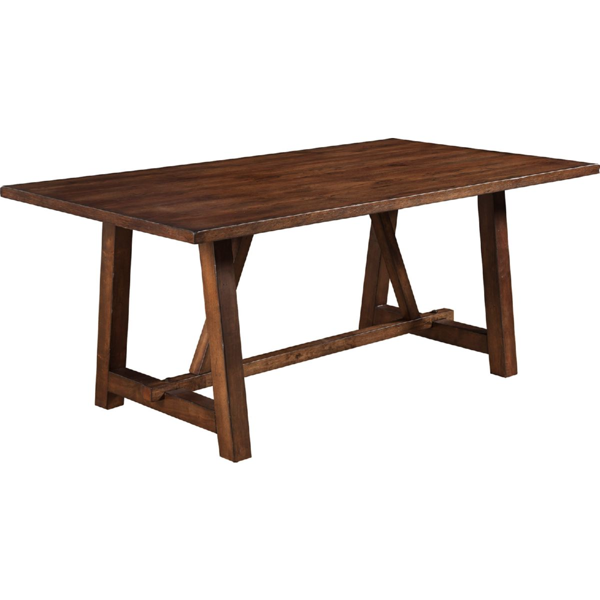 Alpine Furniture Arendal Trestle Rectangular Dining - 72 trestle dining table
