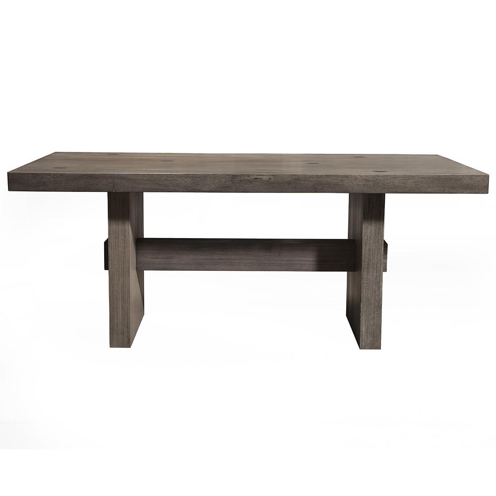 Alpine Furniture Fiji Dining Table in Weathered Grey - Alpine Furniture ORI-814-01 Fiji Dining Table In Weathered Grey