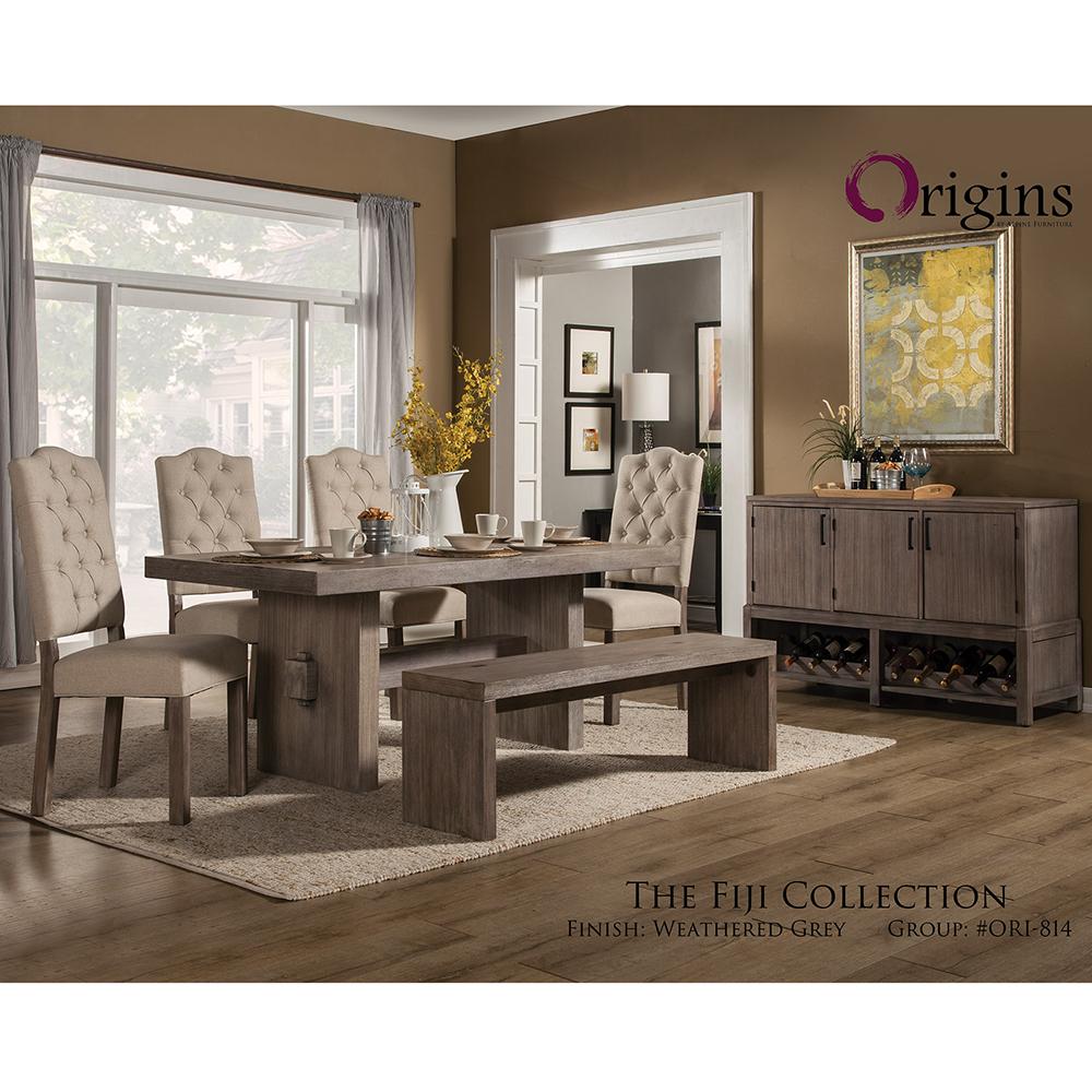 Fiji Dining Table in Weathered Grey - Alpine Furniture ORI-814-01 Fiji Dining Table In Weathered Grey