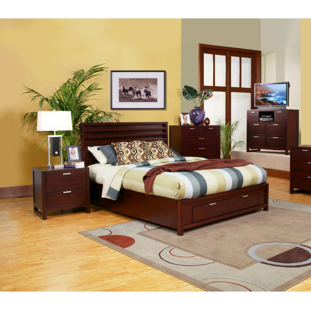 Alpine Furniture Ta 01 Q Camarillo Queen Platform Bed W