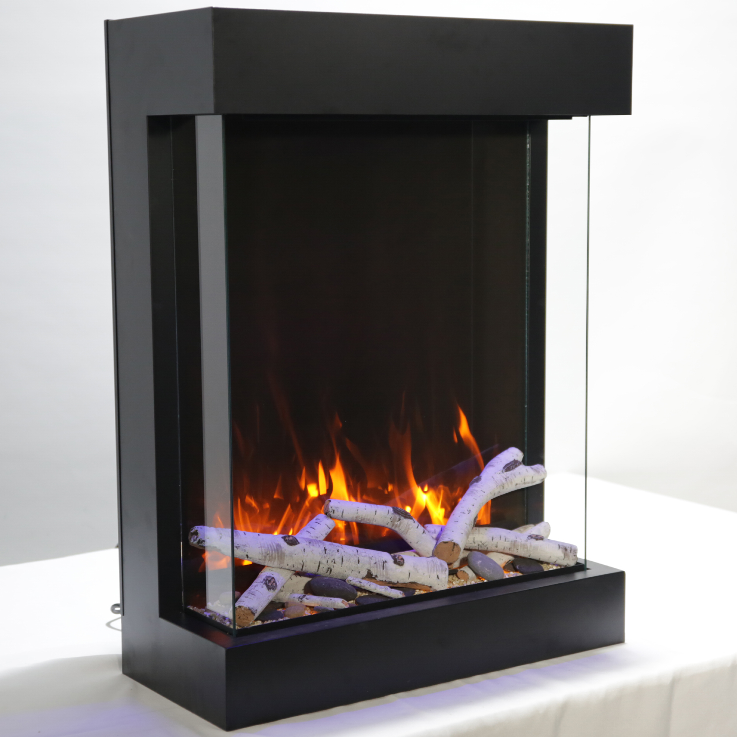 Wondrous Tru View Cube Xl 3 Sided Glass Electric Fireplace By Amantii Download Free Architecture Designs Rallybritishbridgeorg