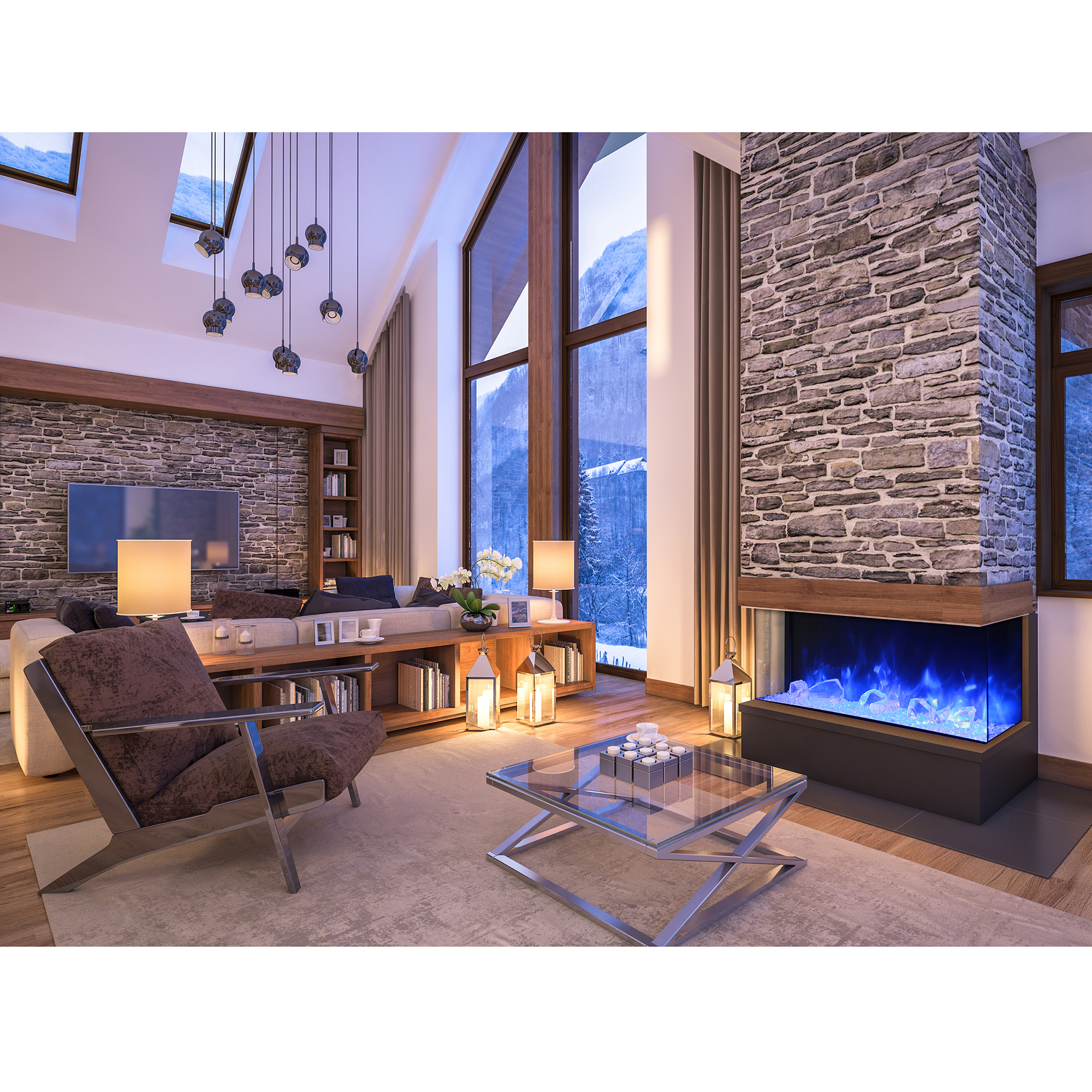 search design fireplace modern sided pin google