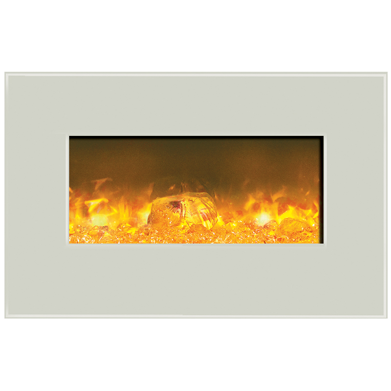 36 Electric Fireplace White Fireplaces