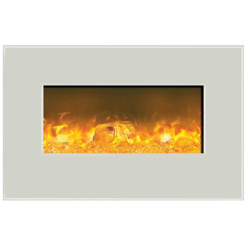 Amantii WM-BI-26-3623-WHTGLS Fire & Ice Series Wall Mount or Built ...