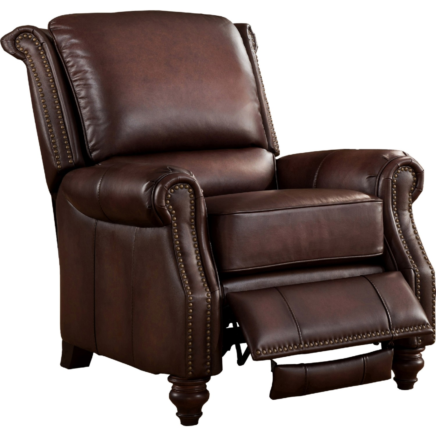 AMAX Leather ChurchillC Churchill 100% Leather Reclining Chair in