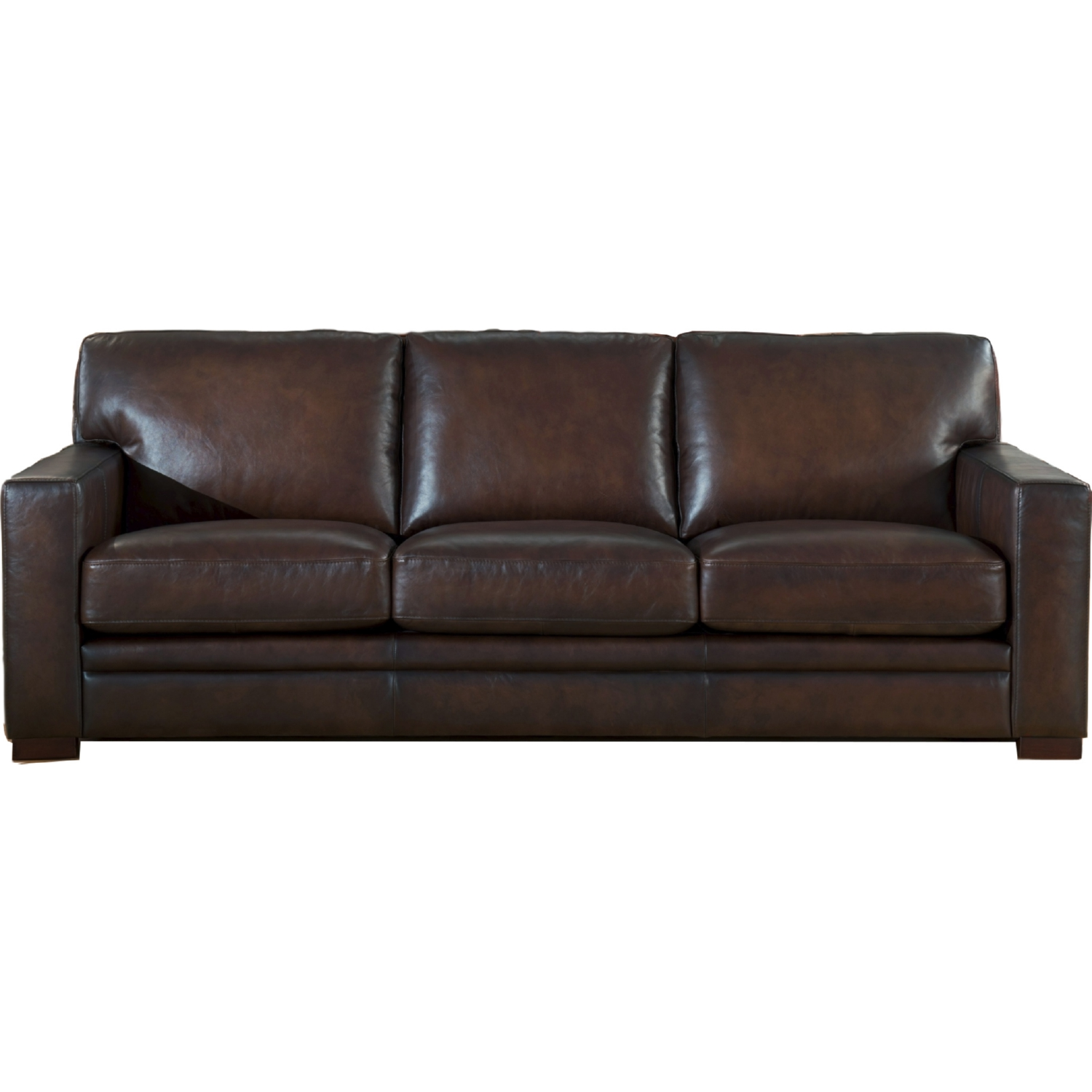 AMAX Leather Chatsworth 100% Leather Sofa In Brown