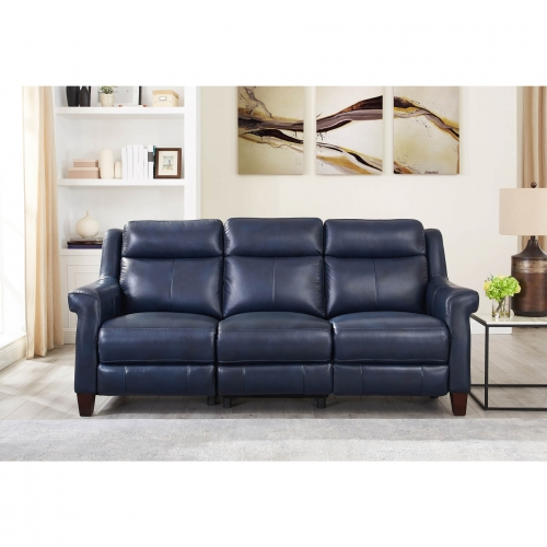 Remarkable Navona Leather Power Reclining Sofa W Power Headrest Lumbar In Blue By Hydeline Leather Pdpeps Interior Chair Design Pdpepsorg