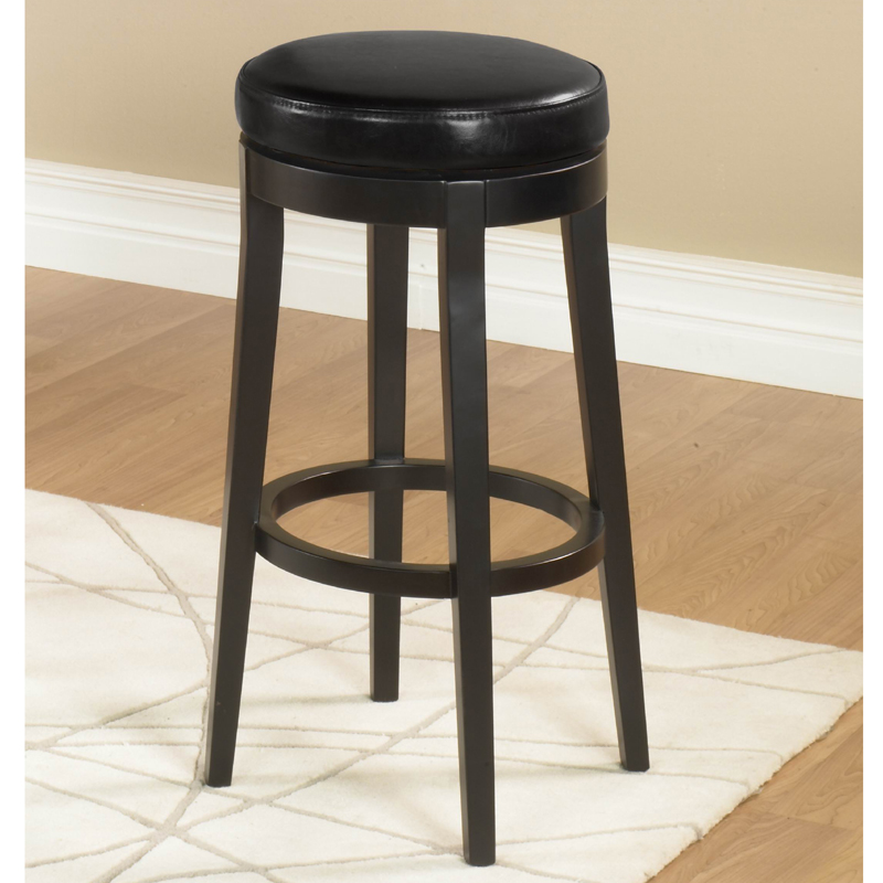Swell Backless Swivel Counter Height Stool In Black By Armen Living Unemploymentrelief Wooden Chair Designs For Living Room Unemploymentrelieforg