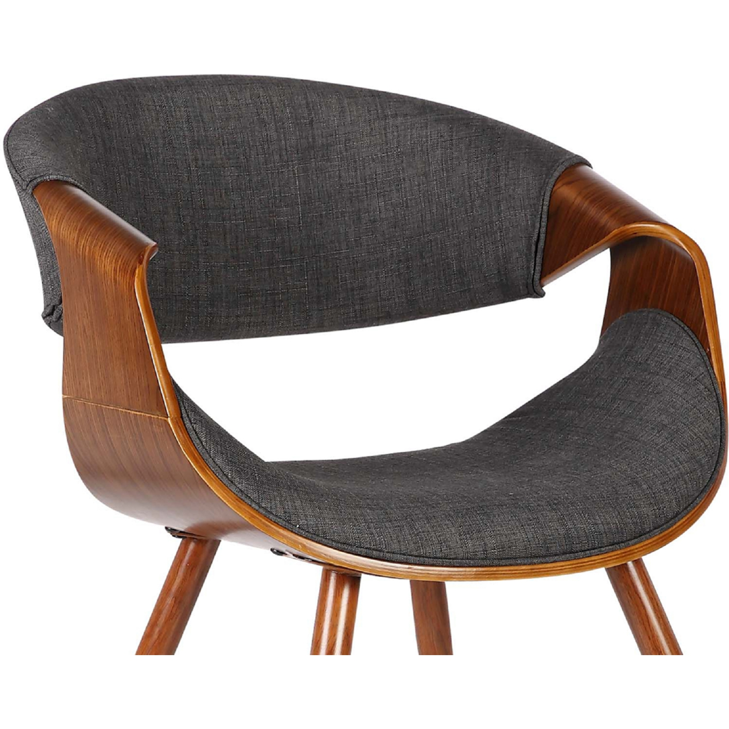 Butterfly Mid Century Dining Chair In Walnut Finish U0026 Charcoal Fabric