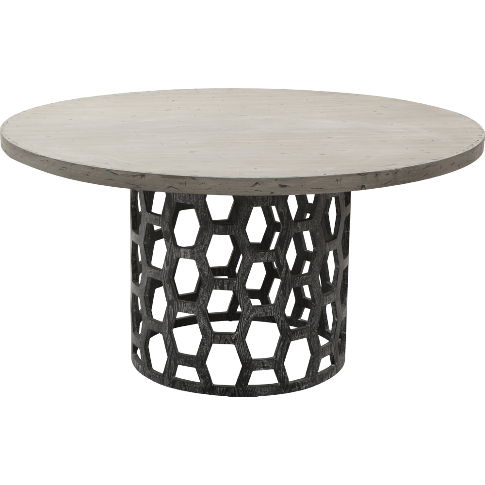 Armen living lccndito centennial dining table w distressed carbon centennial dining table w distressed carbon top on cerused oak honeycomb base geotapseo Images