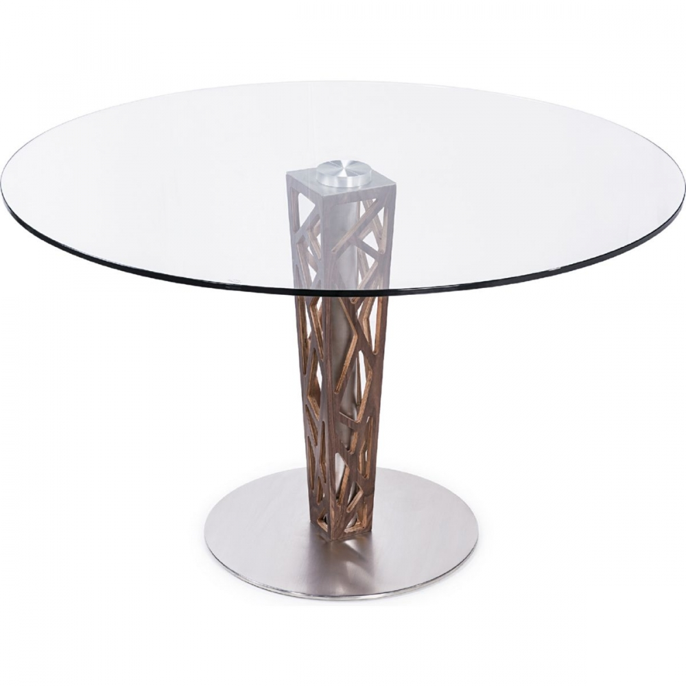 Armen living lccrditogr crystal 48 round dining table in walnut armen lccrditogr geotapseo Images