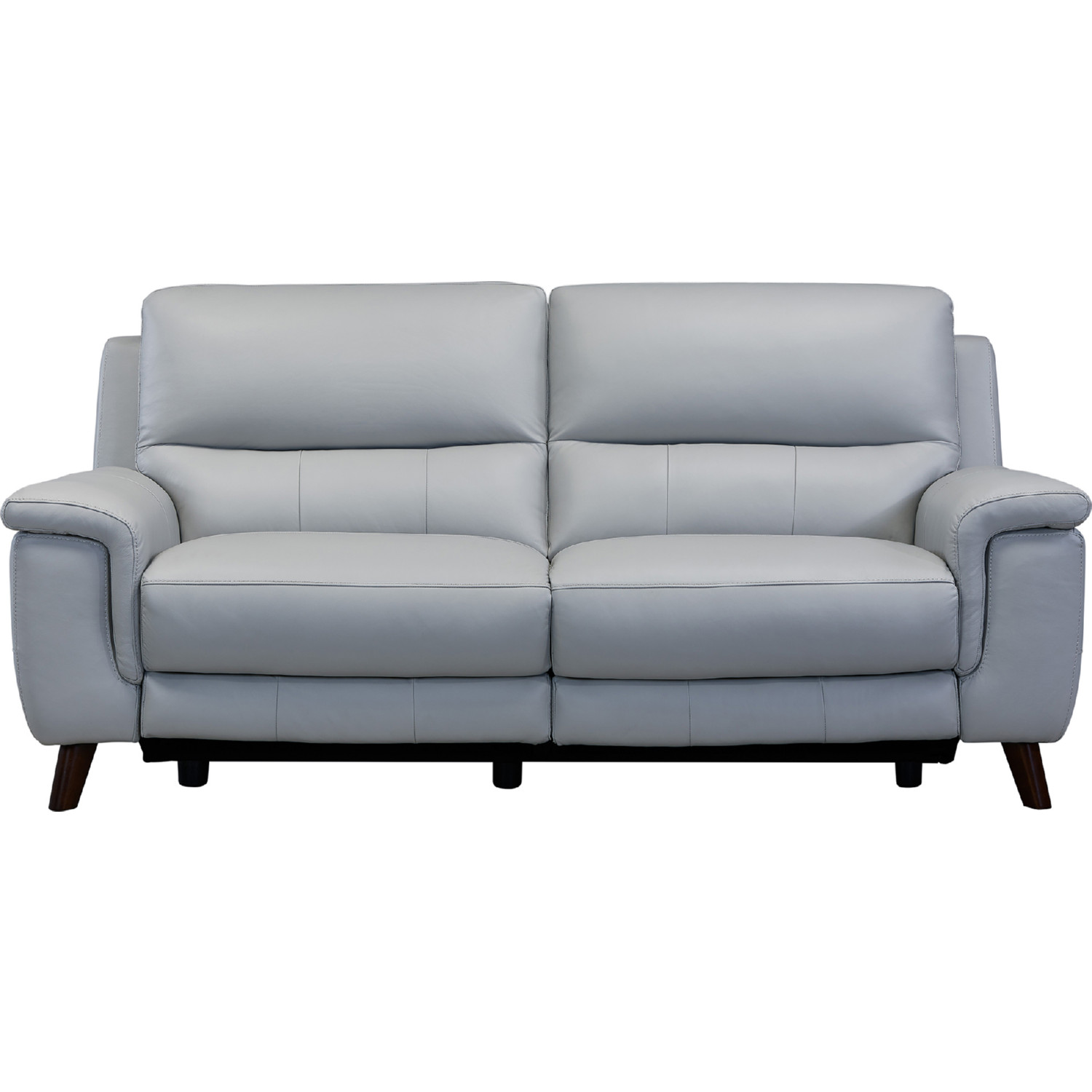 Lizette Power Reclining Sofa In In Dove Grey Leather Archaize Wood By Armen Living