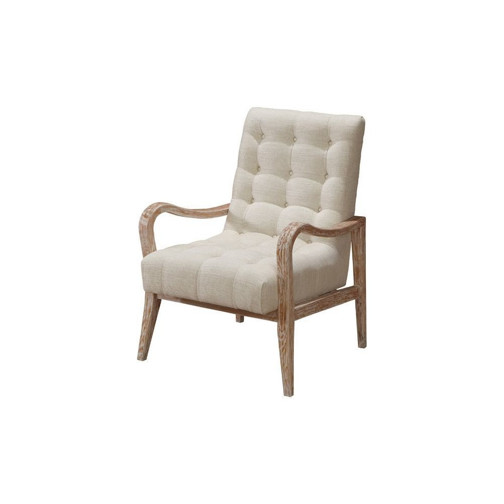 Surprising Regis Accent Chair In Tufted Cream Farbric W Distressed Curved Arms By Armen Living Ibusinesslaw Wood Chair Design Ideas Ibusinesslaworg