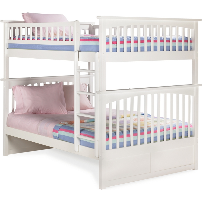 Atlantic Furniture Ab55502 Columbia Bunk Bed Full Over Full In White