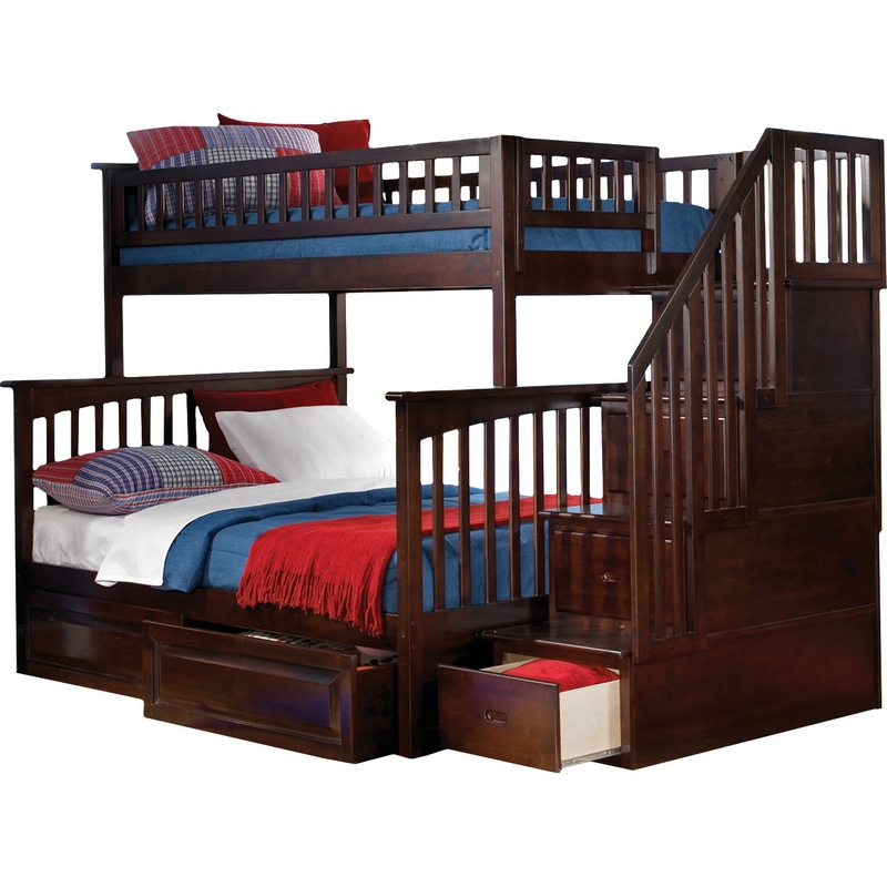 Atlantic Furniture Ab55724 Columbia Staircase Bunkbed Twin