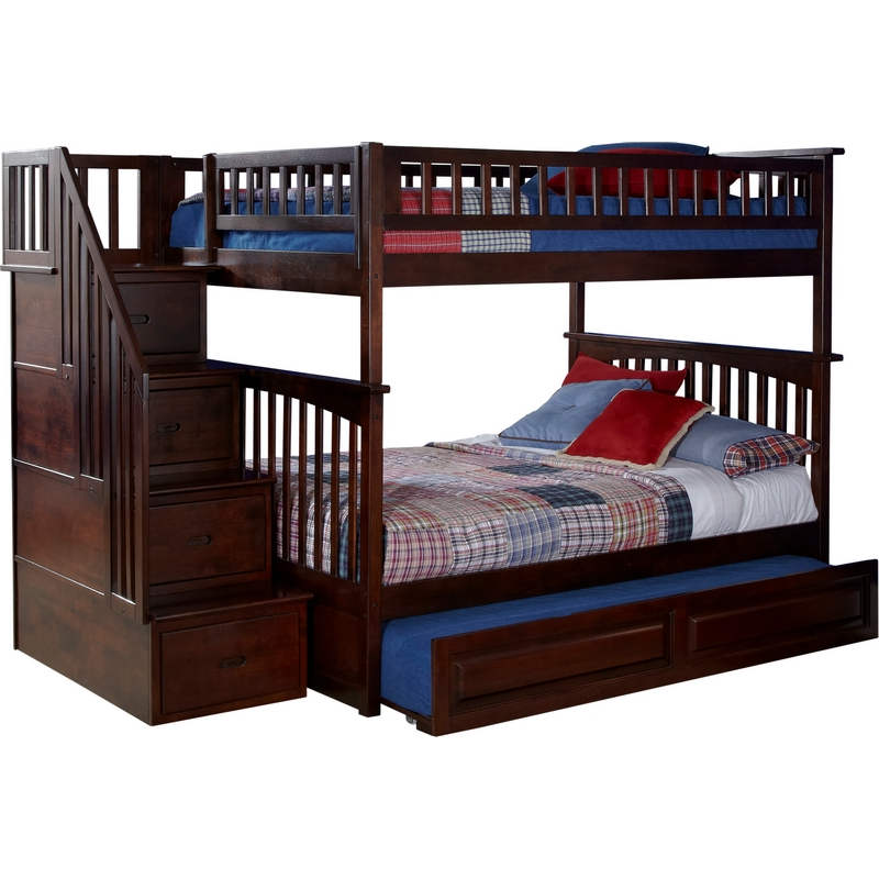 Atlantic Furniture Ab55834 Columbia Staircase Bunk Bed