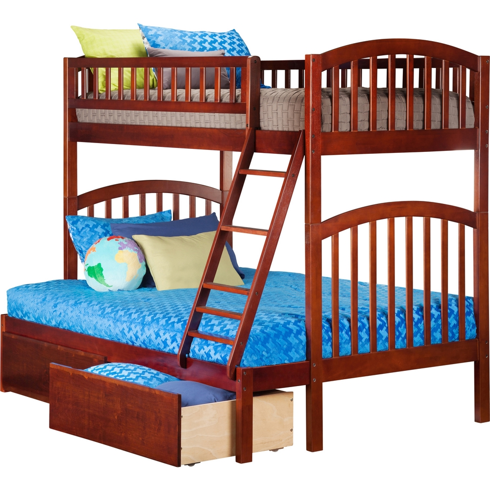 Atlantic furniture ab64244 richland bunk twin over full w for Urban home beds
