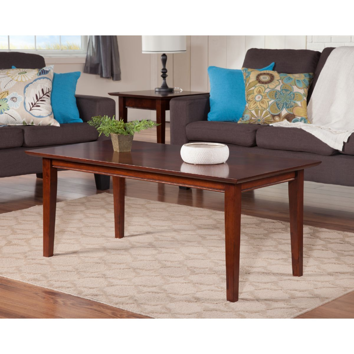Atlantic furniture ah15104 shaker coffee table in walnut atlantic furniture shaker coffee table in walnut geotapseo Images