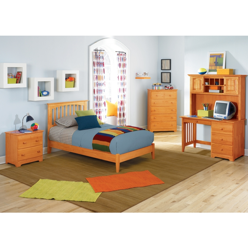 Atlantic Furniture Ap9031007 Brooklyn Full Bed W Open